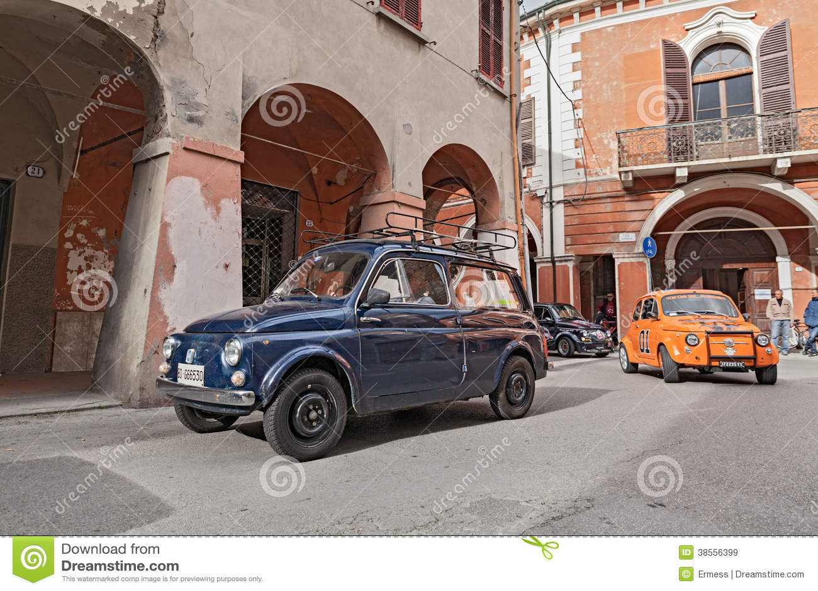 Vintage Italian Car Autobianchi 500 Giardiniera Editorial Stock