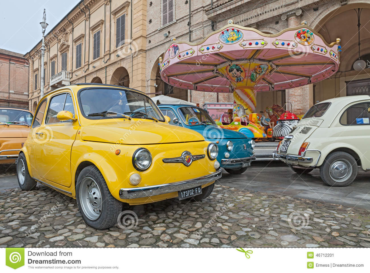 Vintage Italian Car Fiat 500 Abarth Editorial Photo