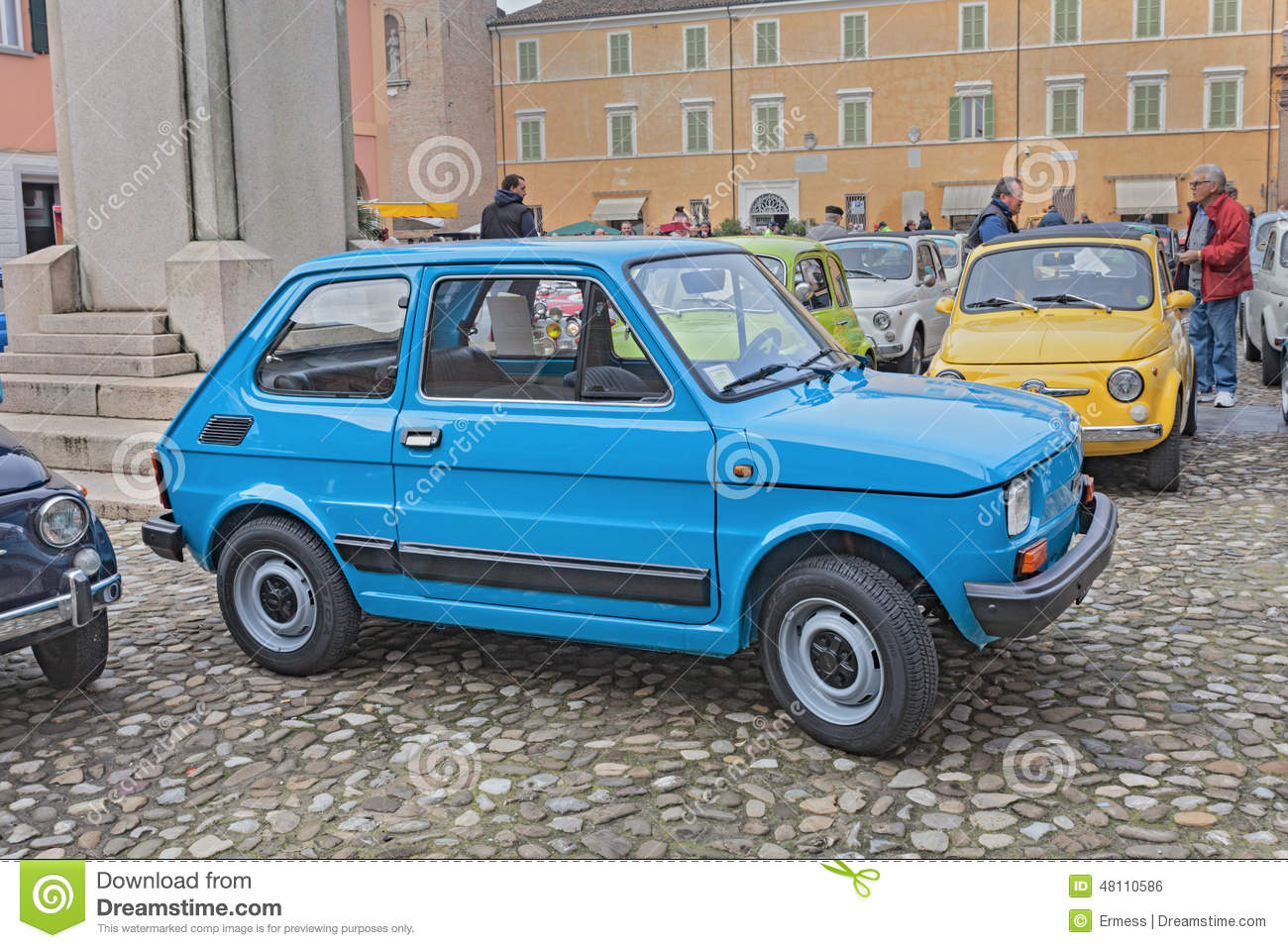 vintage italian car fiat 126 personal 4 editorial photo image 48110586. Black Bedroom Furniture Sets. Home Design Ideas