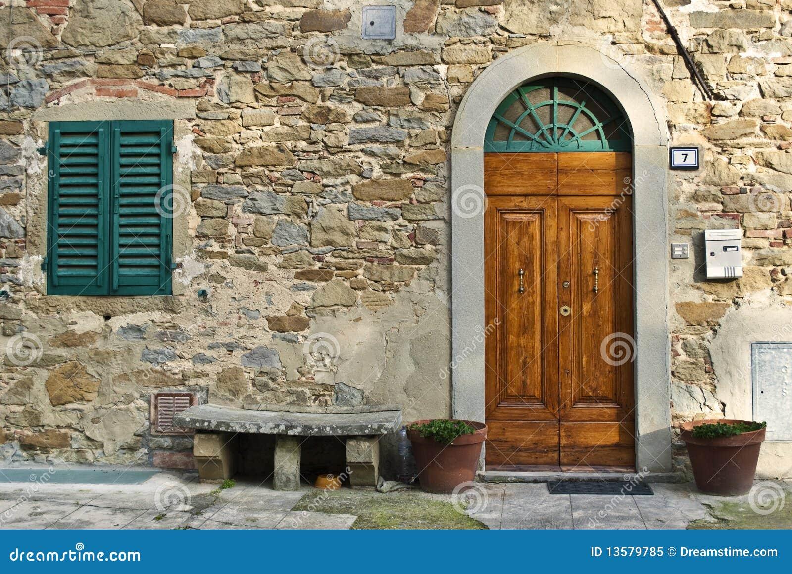 Vintage italian front door - Vintage Italian Front Door Stock Image. Image Of Ancient - 13579785