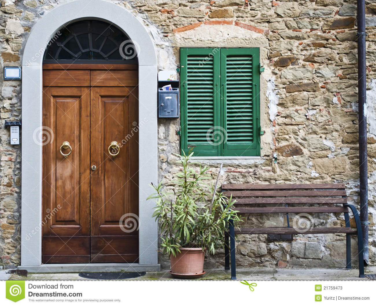 1059 #6D472F The Vintage Italian Front Door Of An Old House In Tuscany. save image Vintage Exterior Doors 41071300