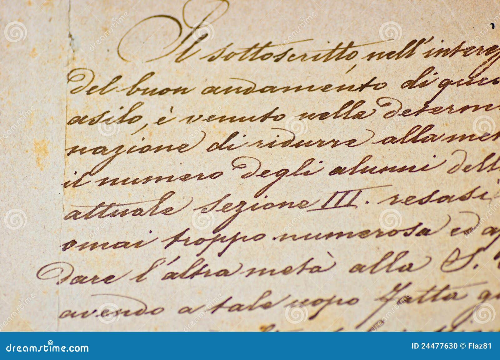 Italian handwritten postcard letter stock photo image 39254147 - Handwritten Italian