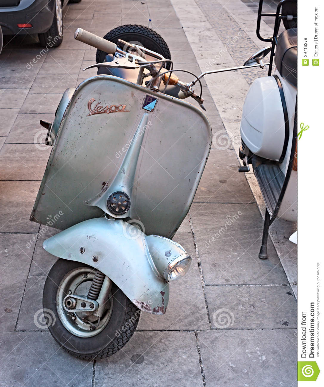 old italian scooter vespa editorial stock photo image. Black Bedroom Furniture Sets. Home Design Ideas