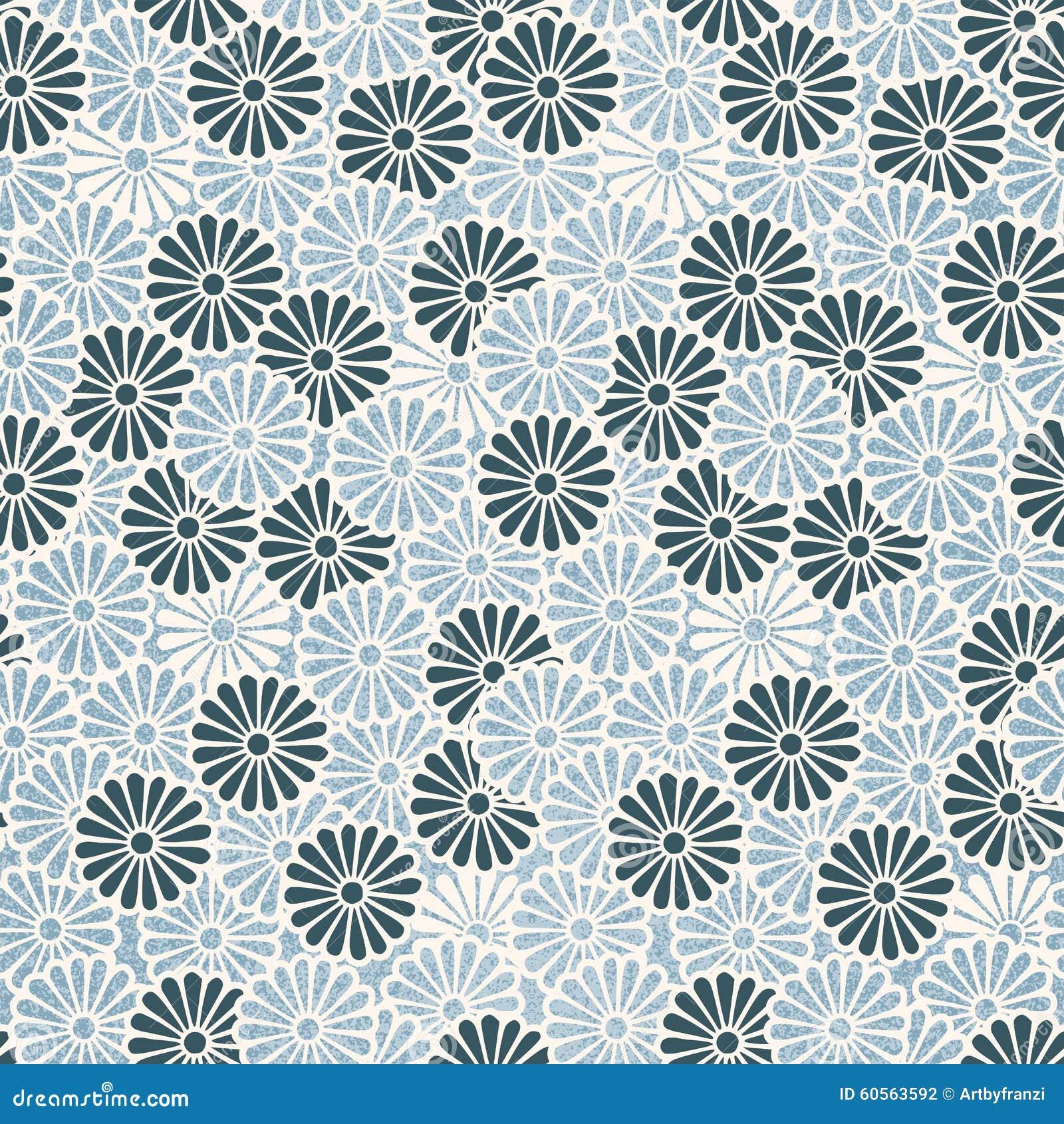 Vintage Japanese Seamless Flower Pattern Stock Vector ...