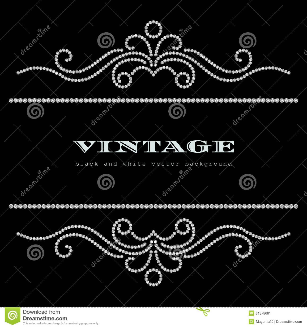 Vintage Jewelry Background Stock Vector Illustration Of Header