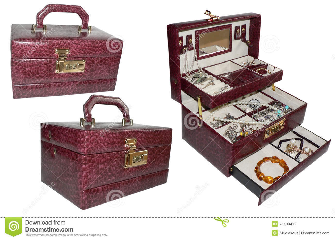 Vintage Jewelry Box For Women S Accessories Stock Photo