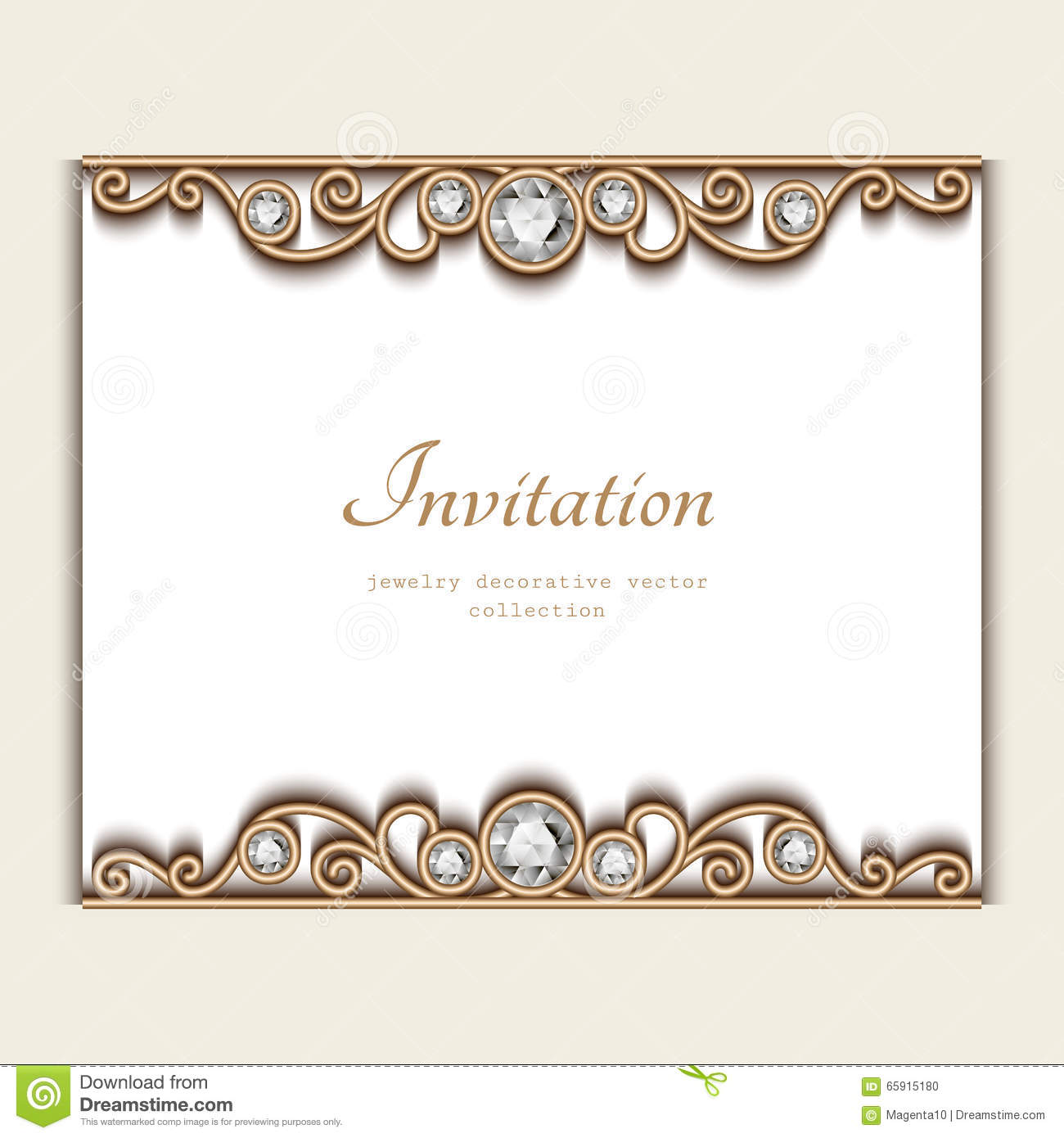 vintage jewelry card invitation template stock vector illustration of date embroidery 65915180. Black Bedroom Furniture Sets. Home Design Ideas