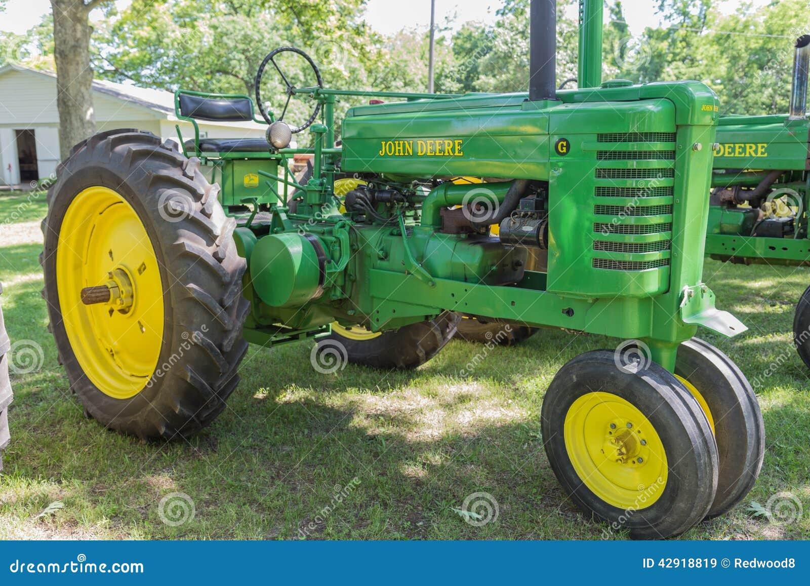 Old John Deere Tractors : Vintage john deere model g farm tractor editorial stock