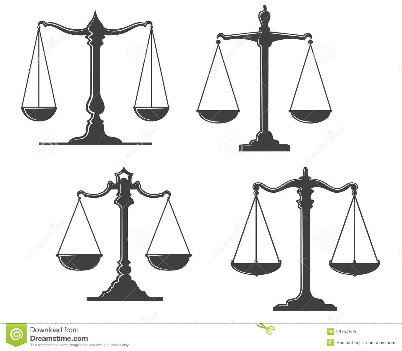 Vintage justice scales stock vector. Illustration of case ...