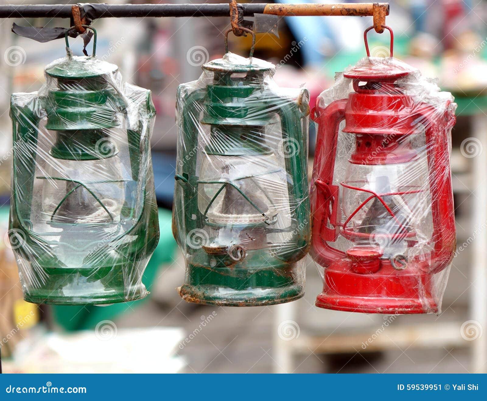 Vintage Kerosene Lanterns For Sale Stock Image - Image of ...