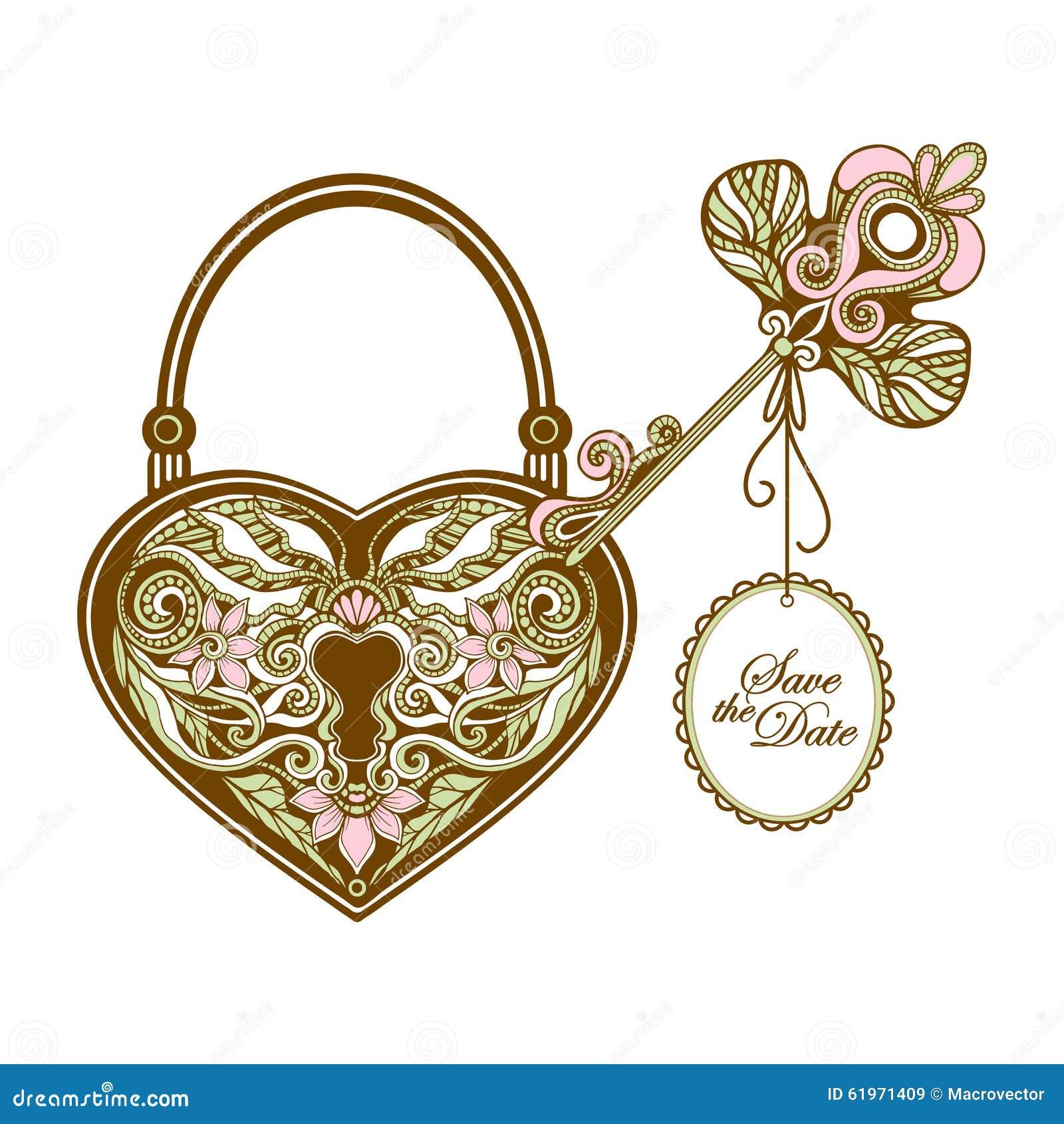 Vintage Key And Lock