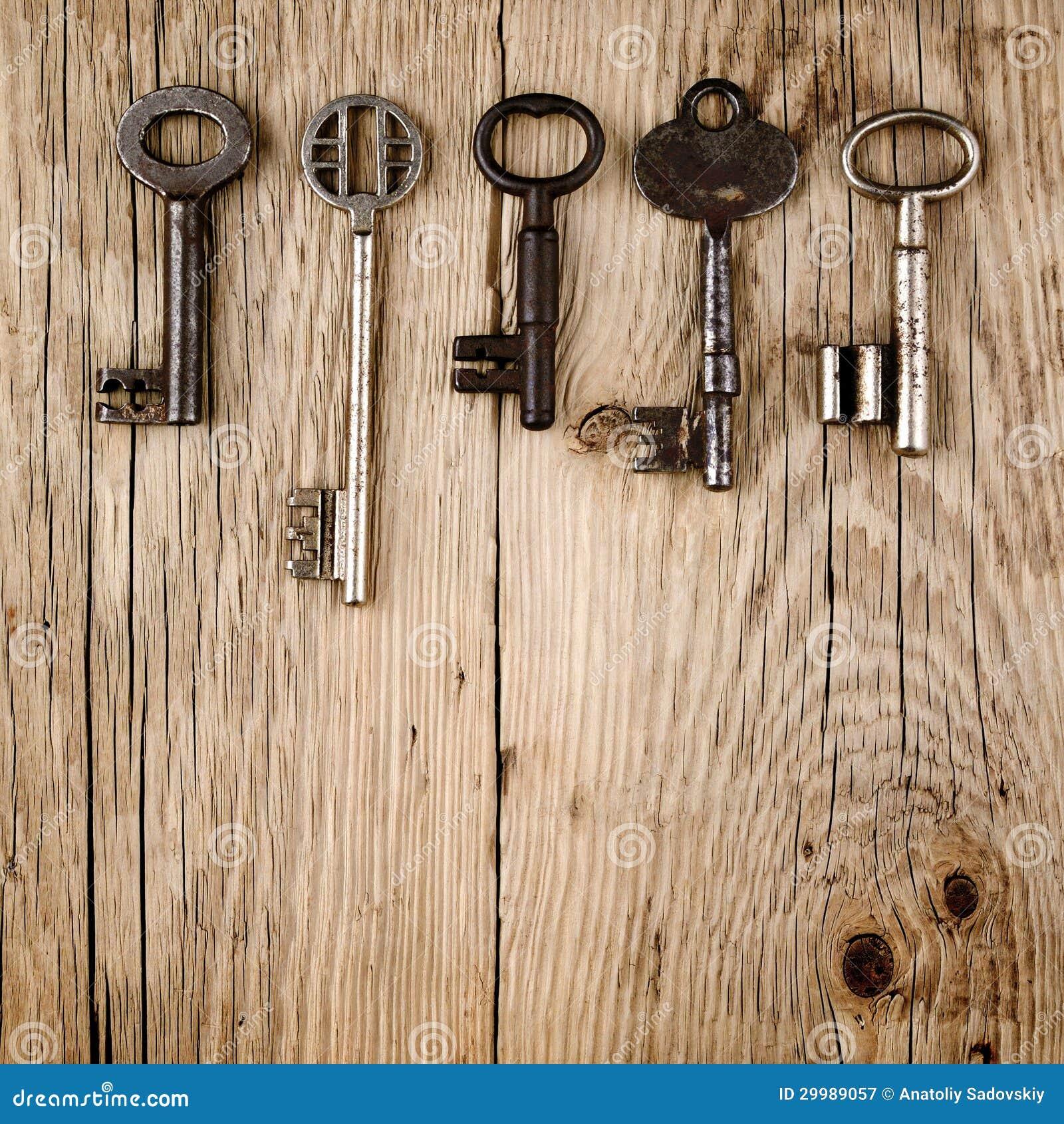 Vintage Keys On Wood Royalty Free Stock Photography Image 29989057