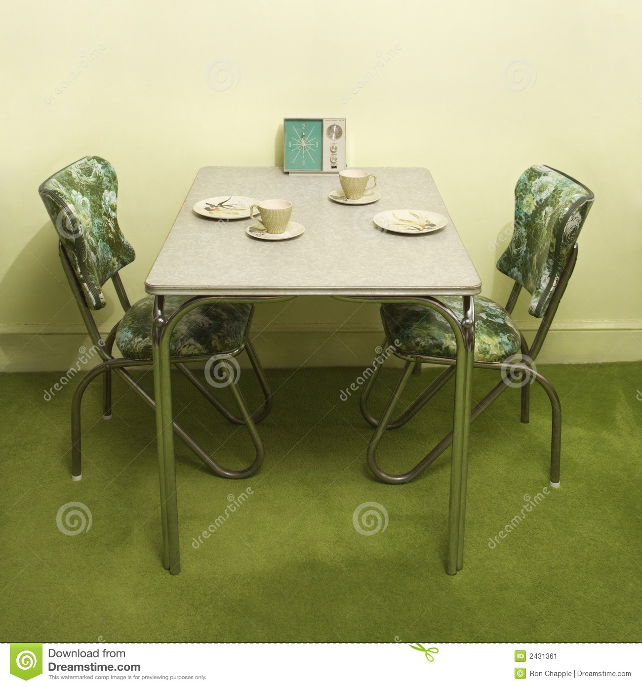 Vintage Kitchen Dinette Set Stock Image Image 2431361