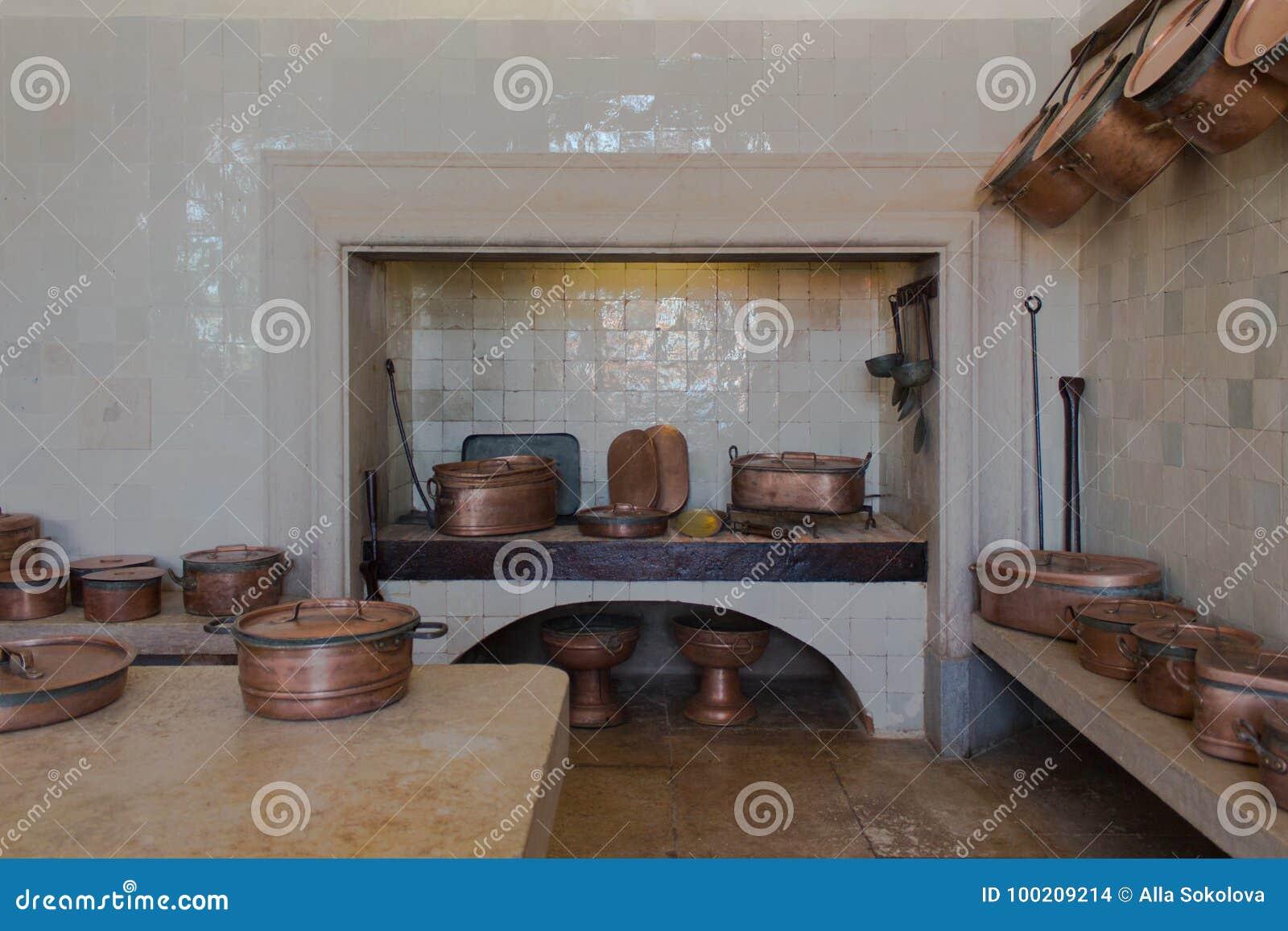 Vintage Kitchen Interior Stock Photo Image Of Ladle 100209214