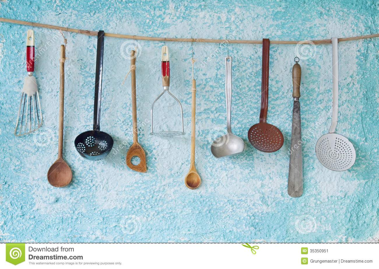 Vintage Kitchen Utensils Stock Image Image Of Container