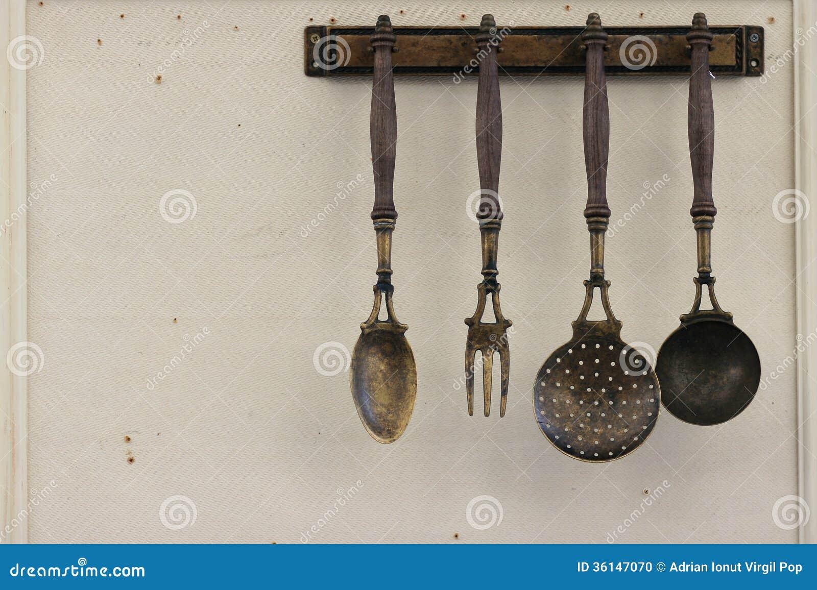 Hanging Cooking Utensils Clipart
