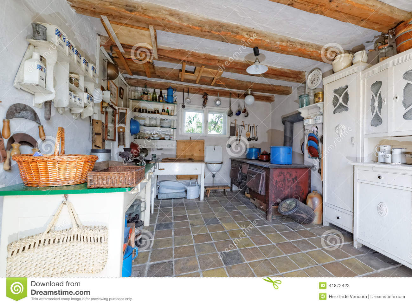 Vintage kitchen stock photo Image of cupboards vintage 41872422