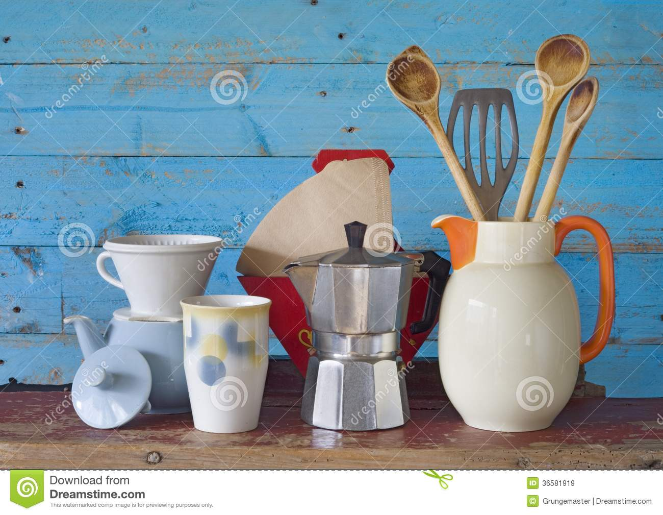 Royalty Free Stock Photo. Download Vintage Kitchenware ...