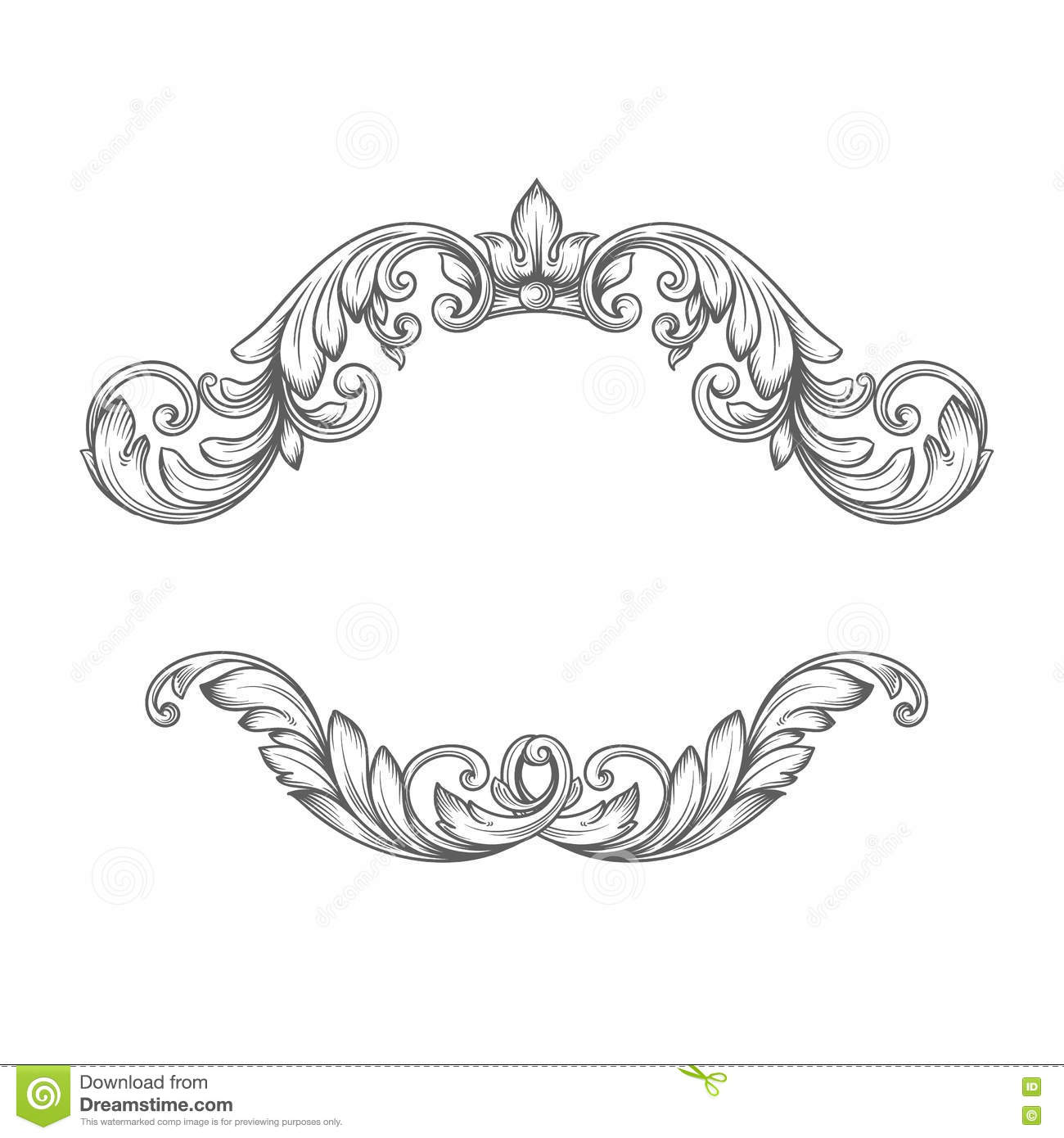 Vintage label frame design elements stock vector