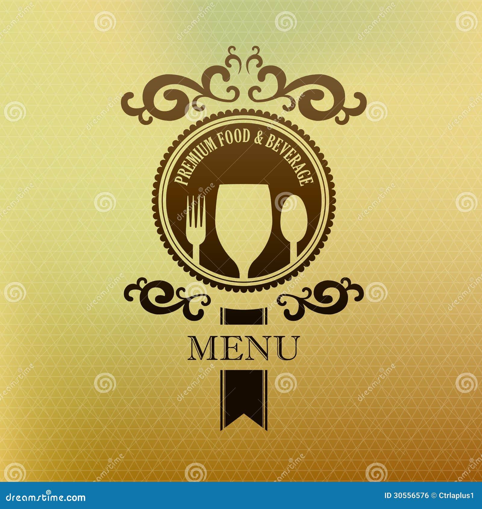 vintage label menu food and beverage cover stock vector