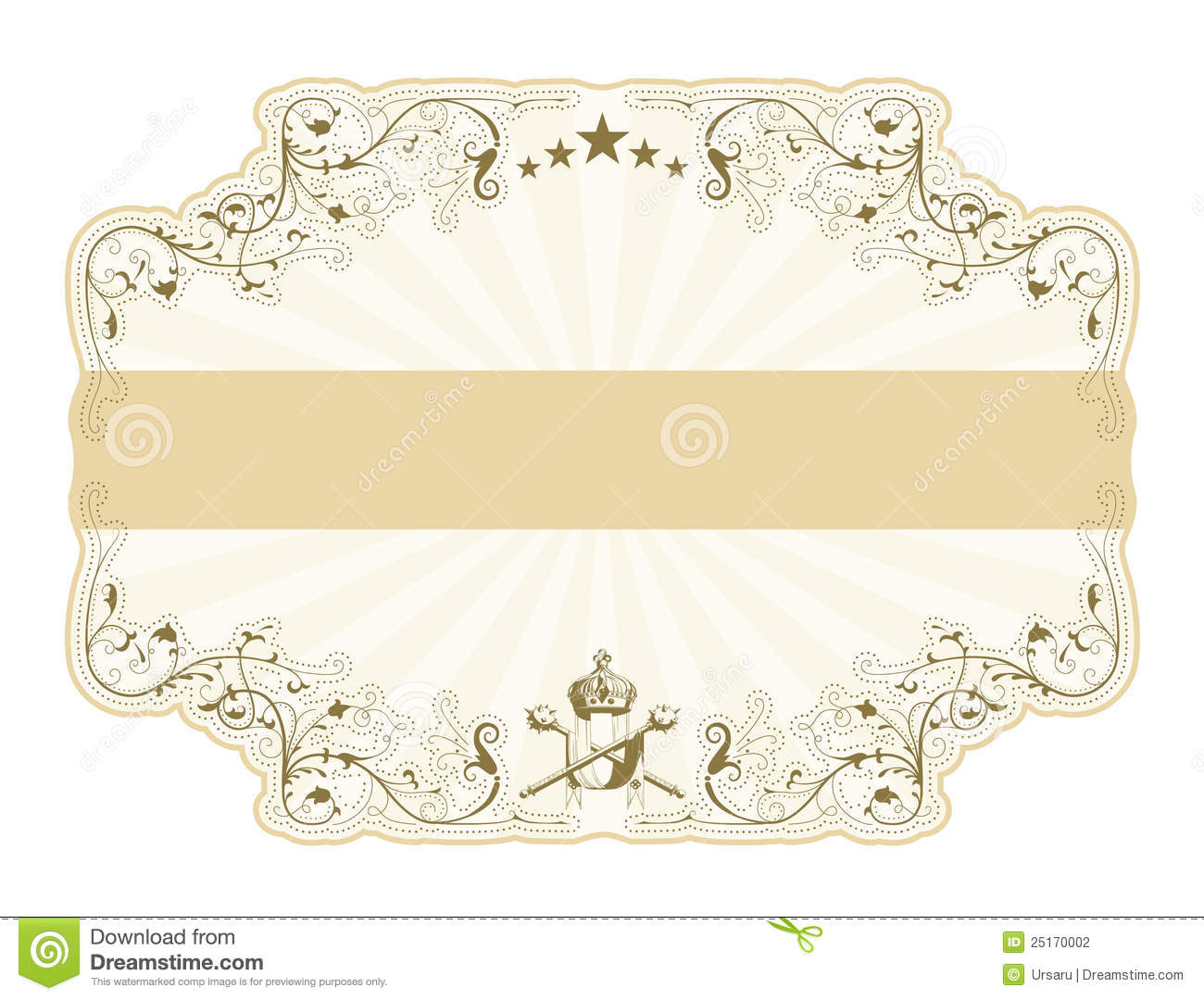 Star background vector download free vector art stock graphics - Vintage Label With Rays Stock Photography Image 25170002