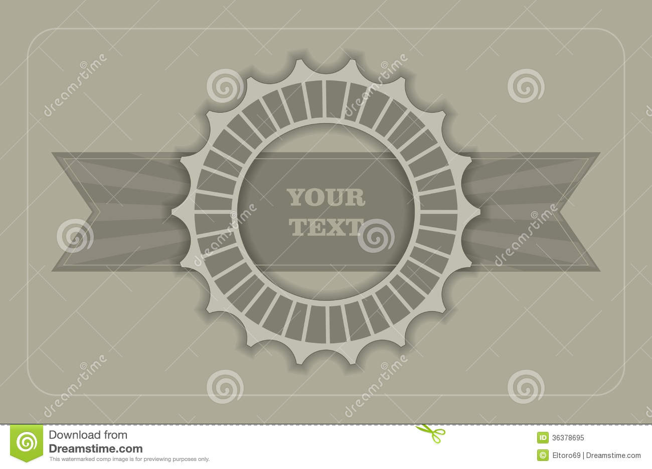 Vintage Label Template Stock Illustration Illustration Of Artwork