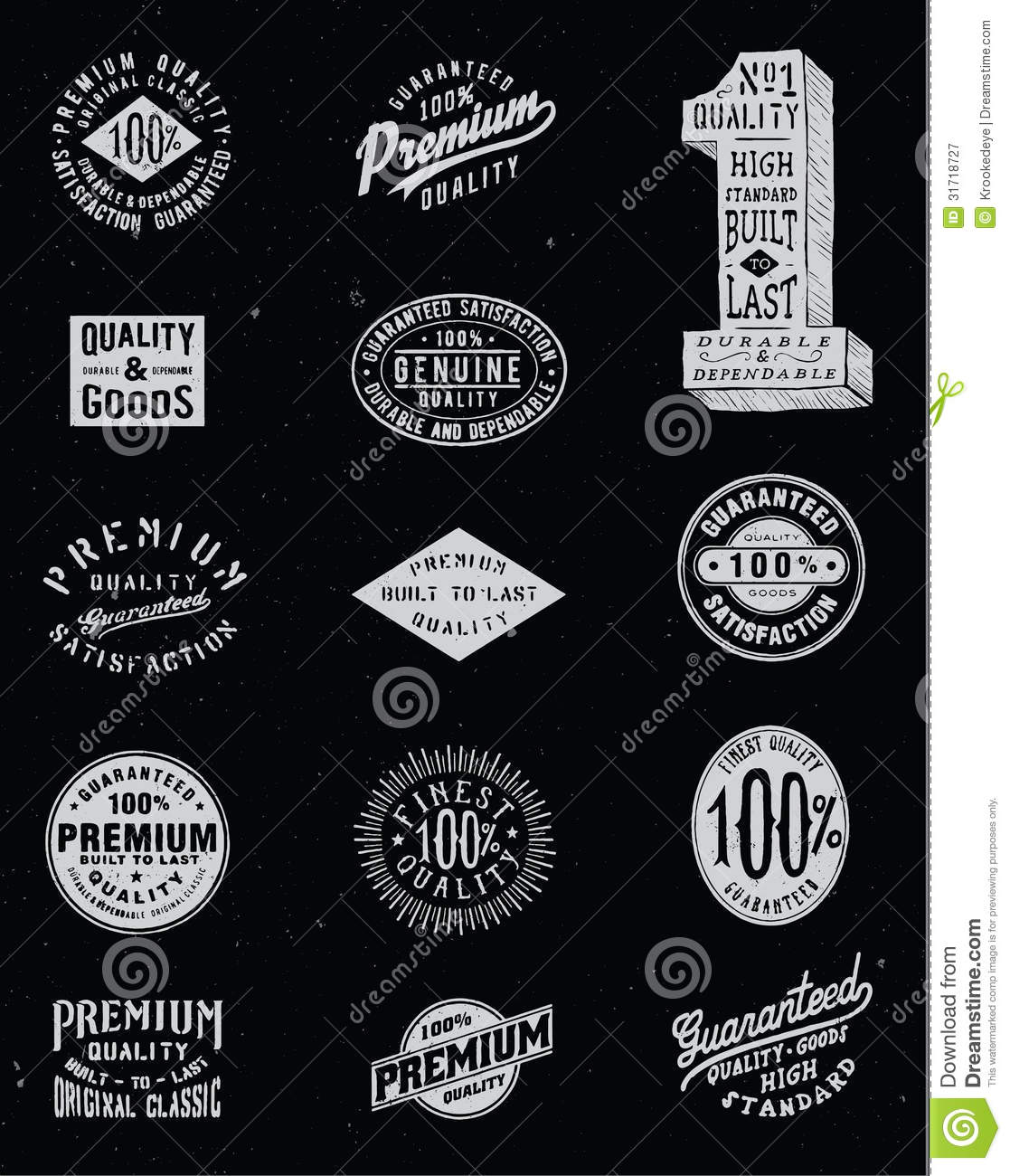Vintage Label Vector Set Royalty Free Stock Photography ...