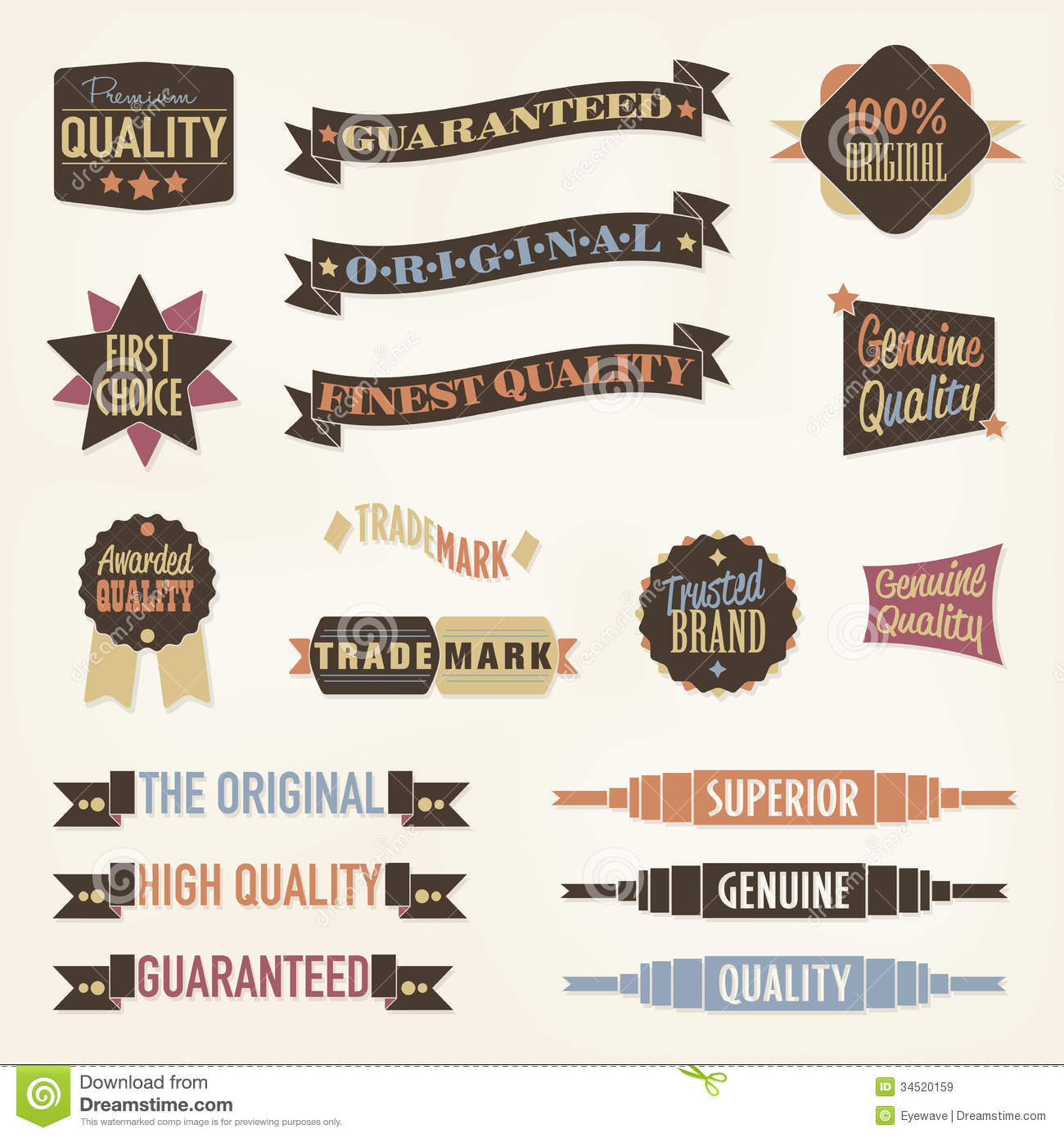 vintage labels and banners collection stock vector - image: 34520159, Powerpoint templates