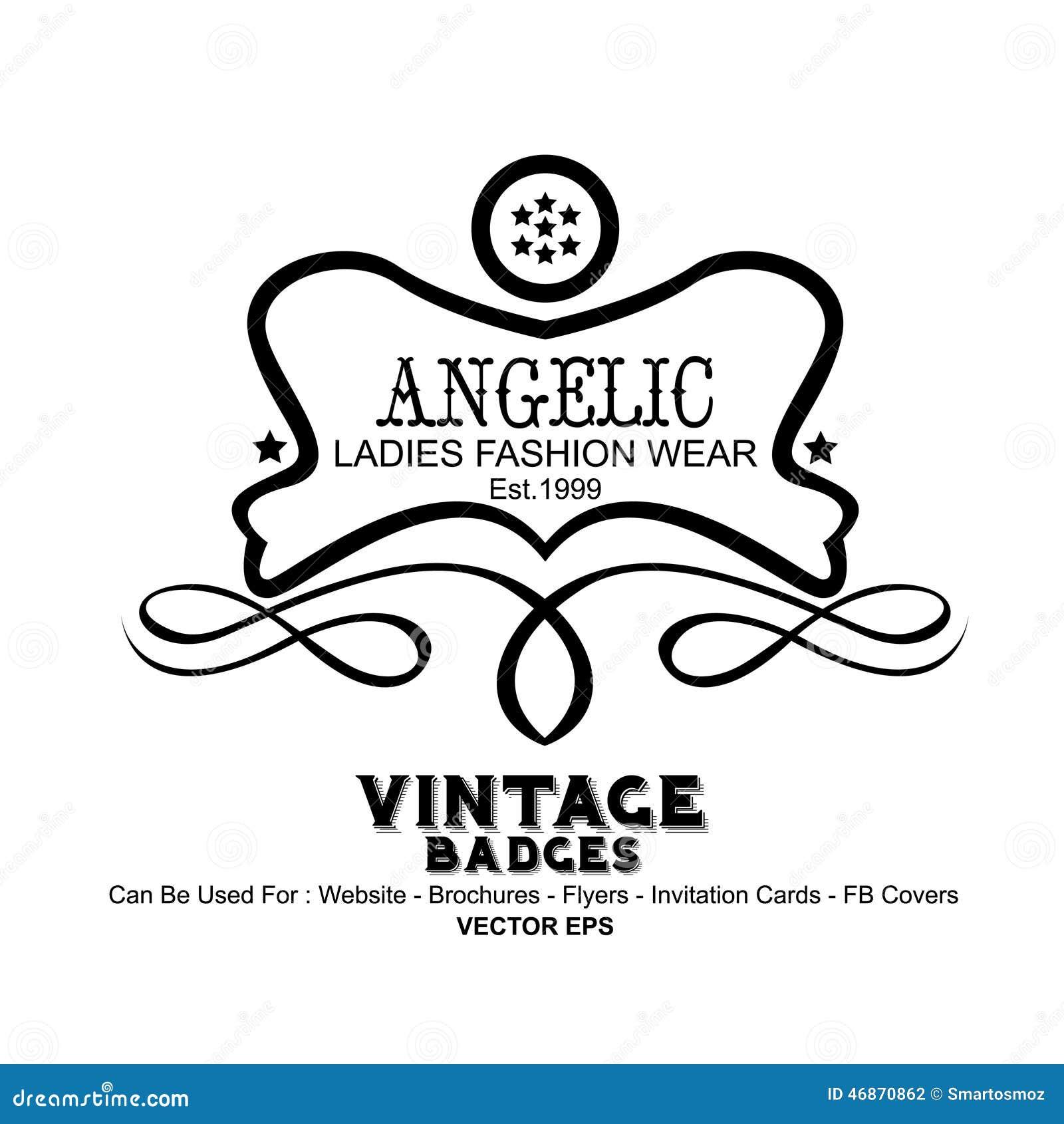 Vintage Labels Fashion Stock Vector Image 46870862