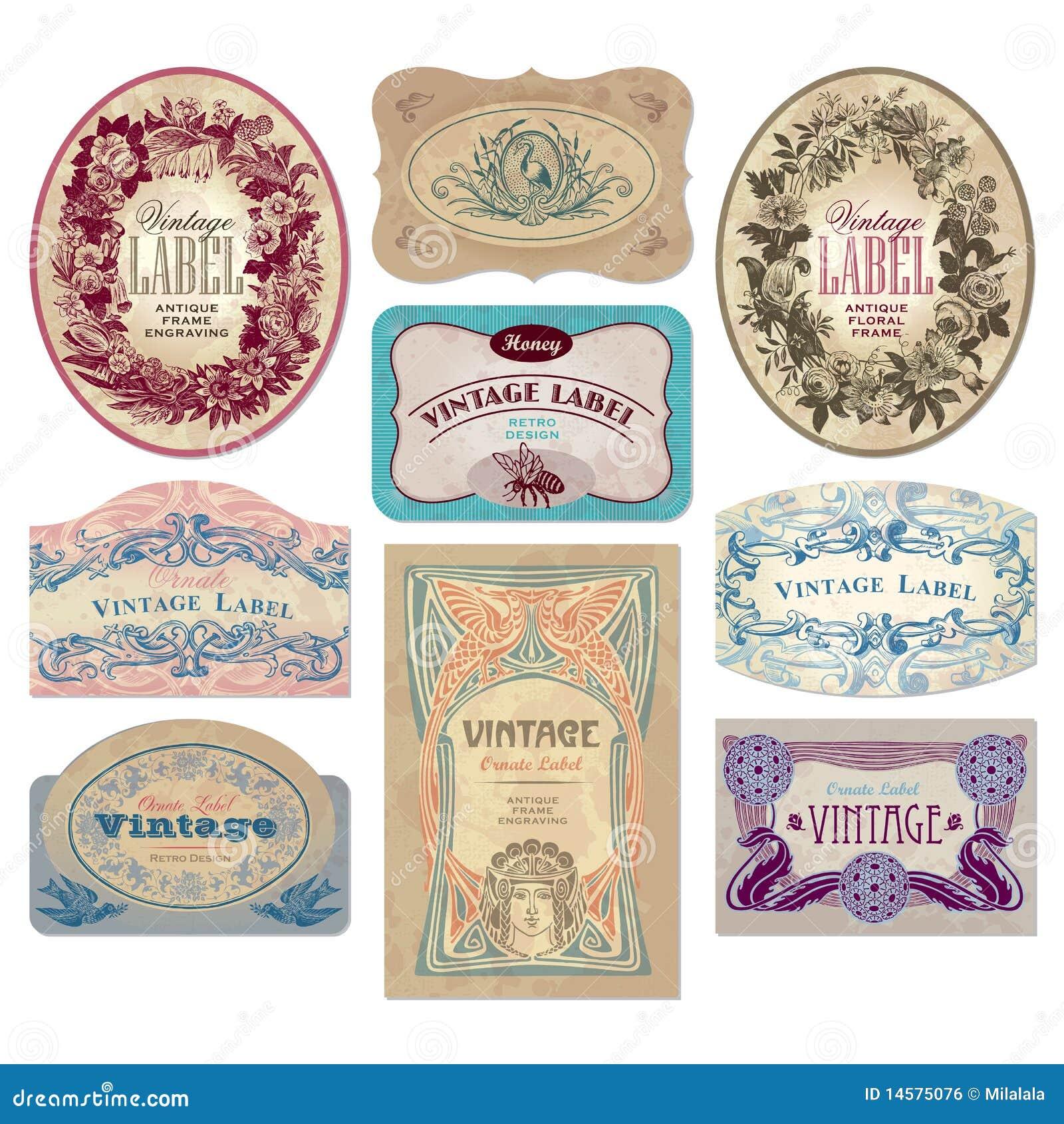 Vintage Labels Set (vector) Royalty Free Stock Image - Image: 14575076