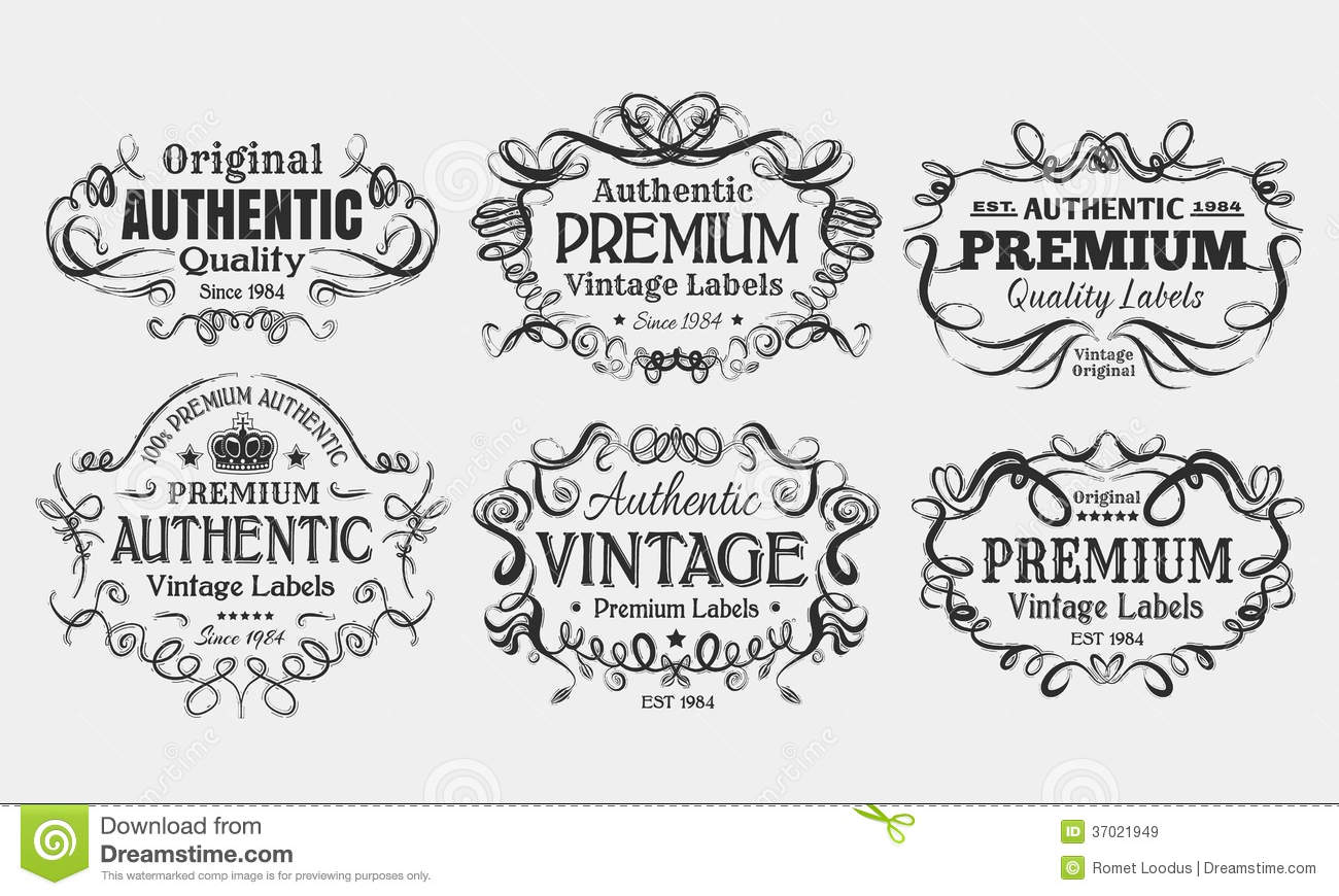 vintage labels stock vector. illustration of typography - 37021949
