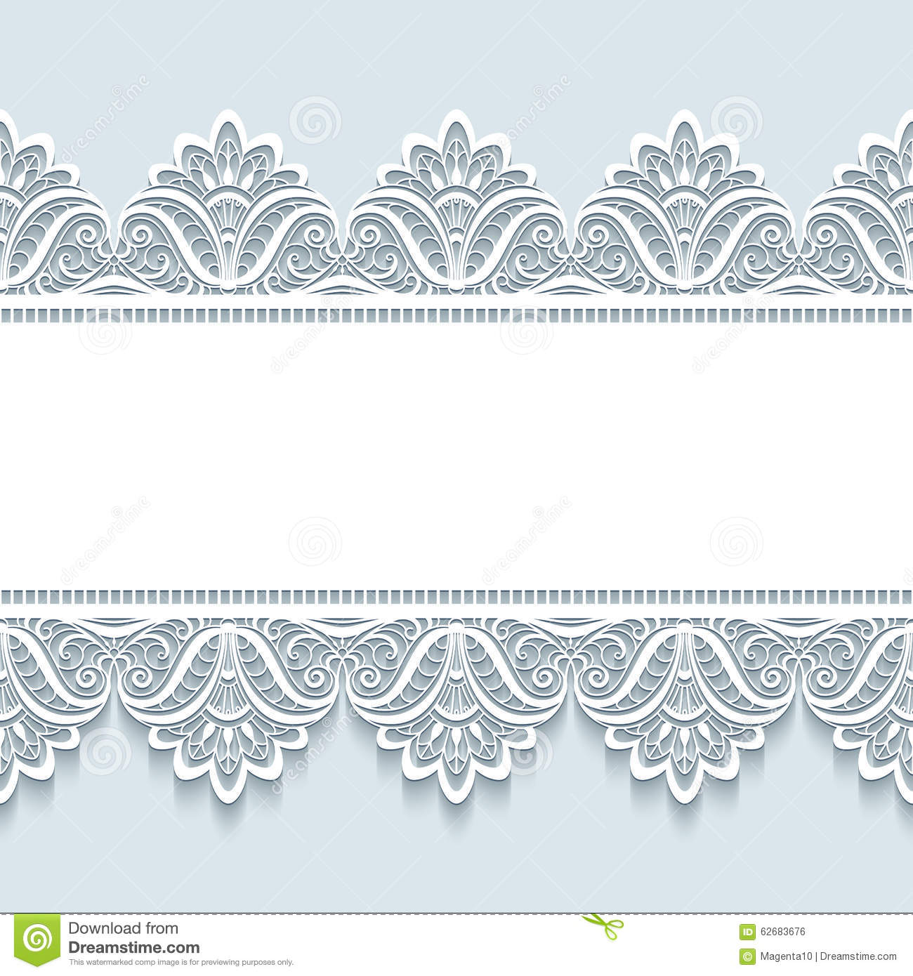 Vintage Lace Background With Seamless Borders