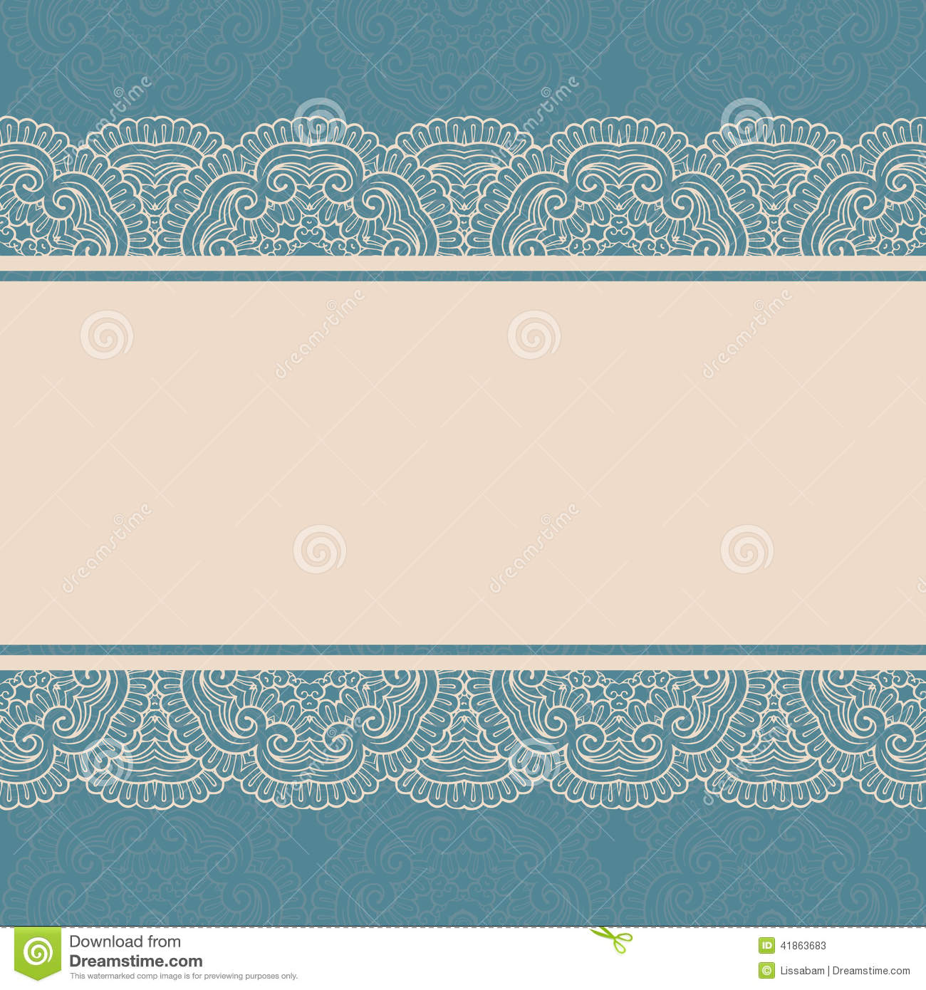 Vintage Lace Border, Seamless Background Stock Vector ...