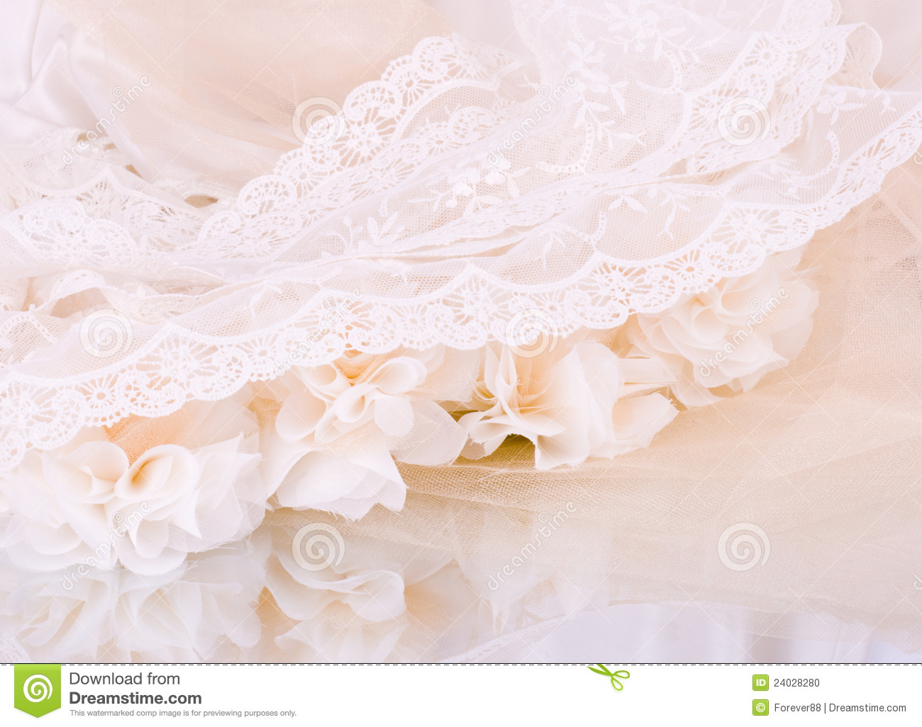 Vintage lace with flowers