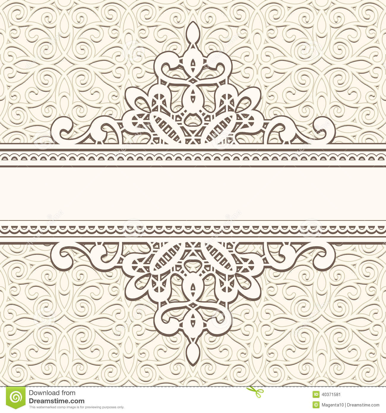 Vintage Lace Frame Stock Vector Image 40371581