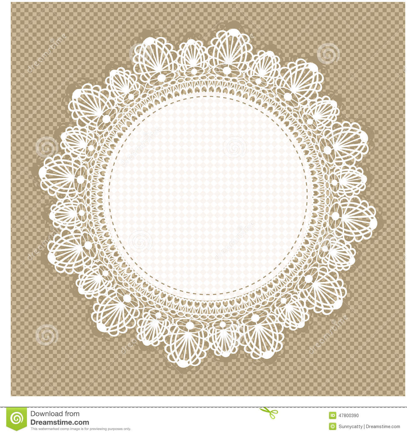 Vintage Lace Frame Stock Vector - Image: 47800390