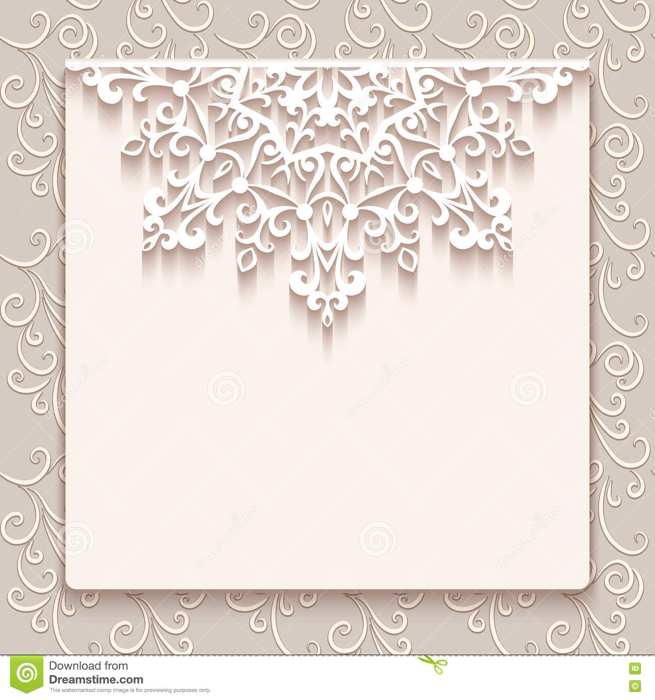 Vintage lace greeting card or wedding invitation
