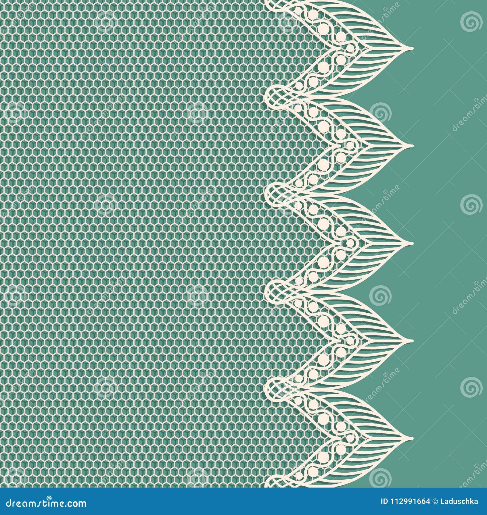 Vintage lacy border