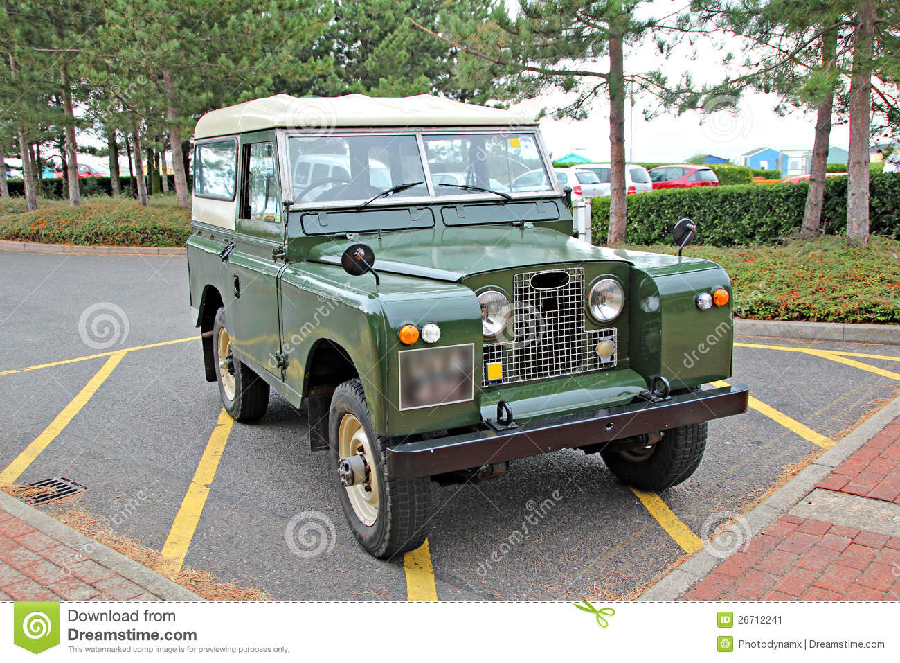 Vintage Land Rover Jeep Stock Image Image Of Collector