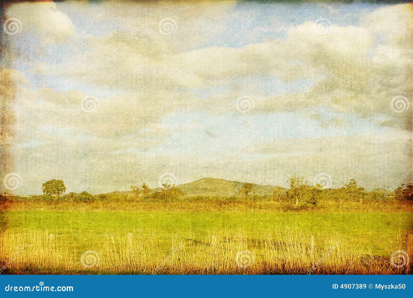VINTAGE Landscape Royalty Free Stock Images - Image: 4907389