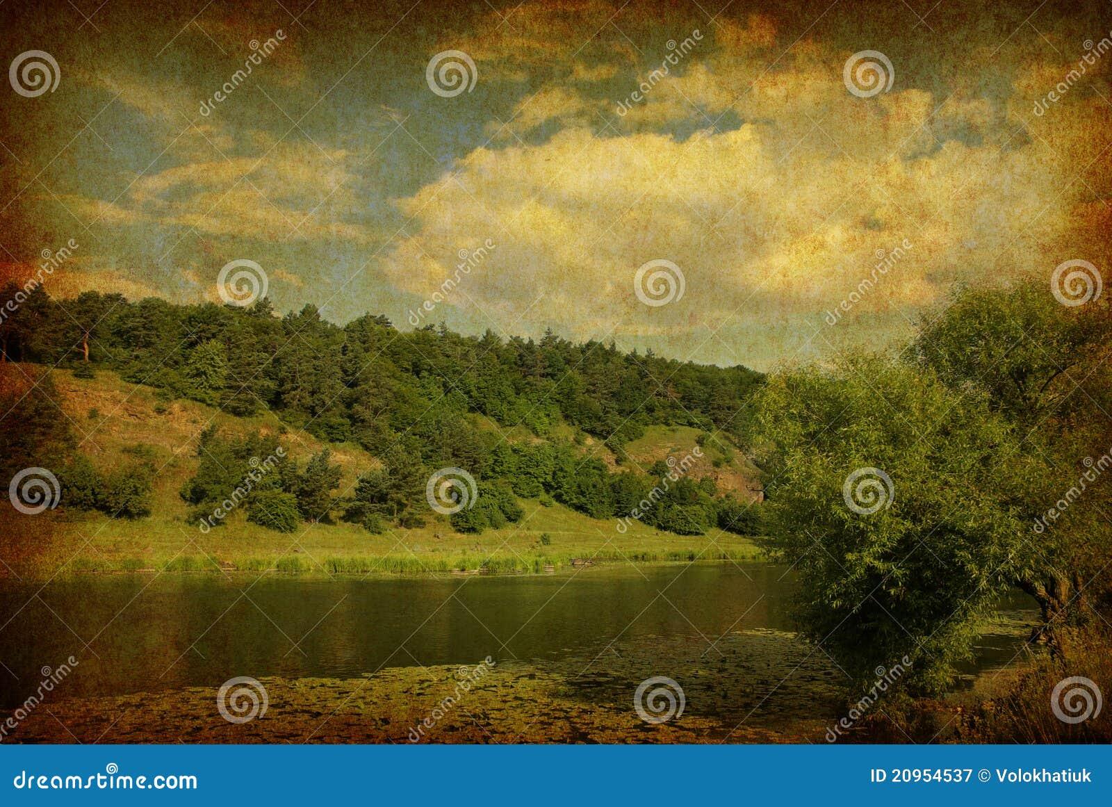 Vintage Landscape Photo Royalty Free Stock Photography ...