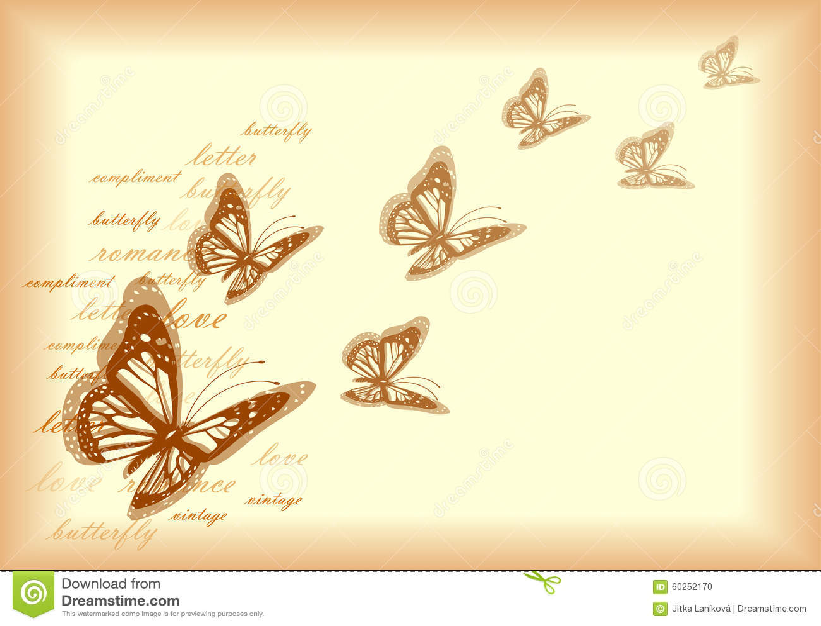 Vintage paper butterflies 87