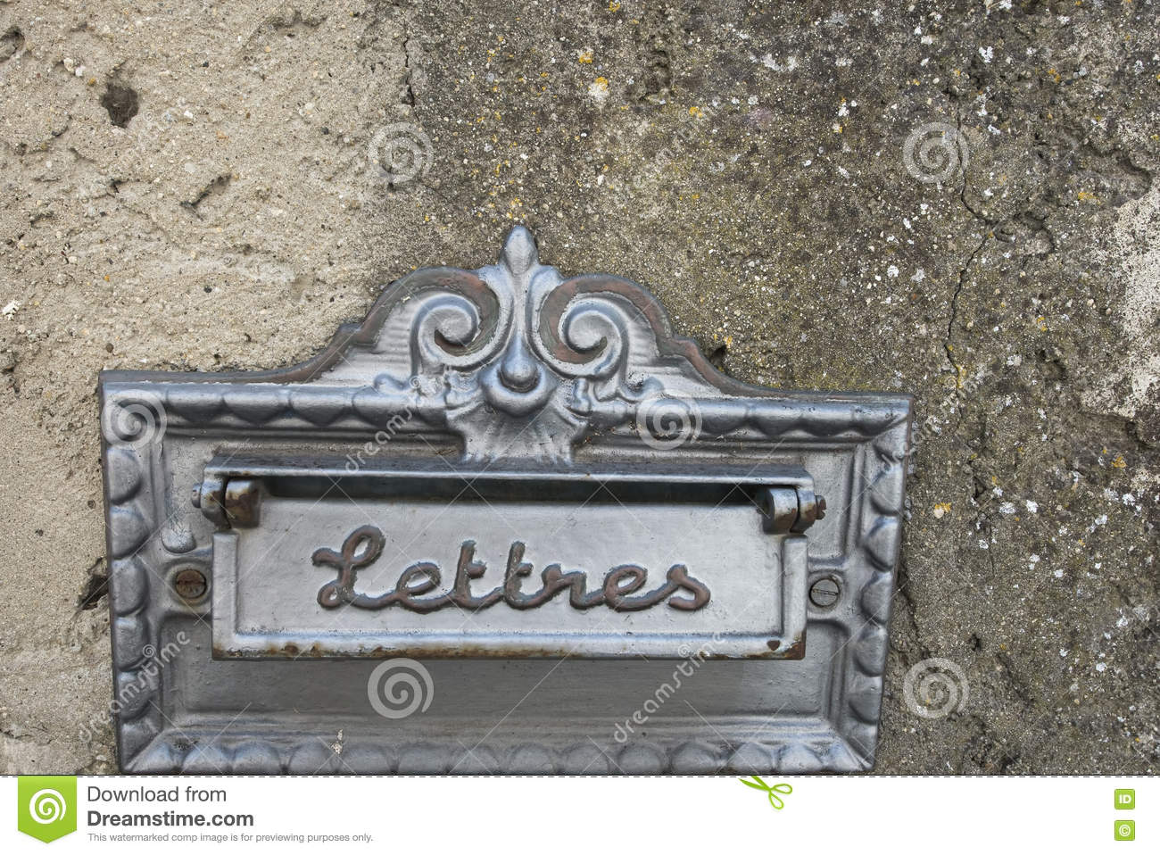 Vintage Letterbox Stock Image Image Of Dirty Built 77328495