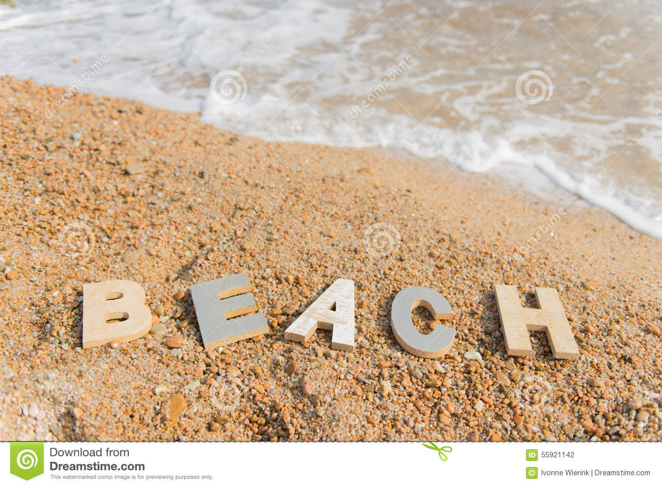vintage letters at the beach