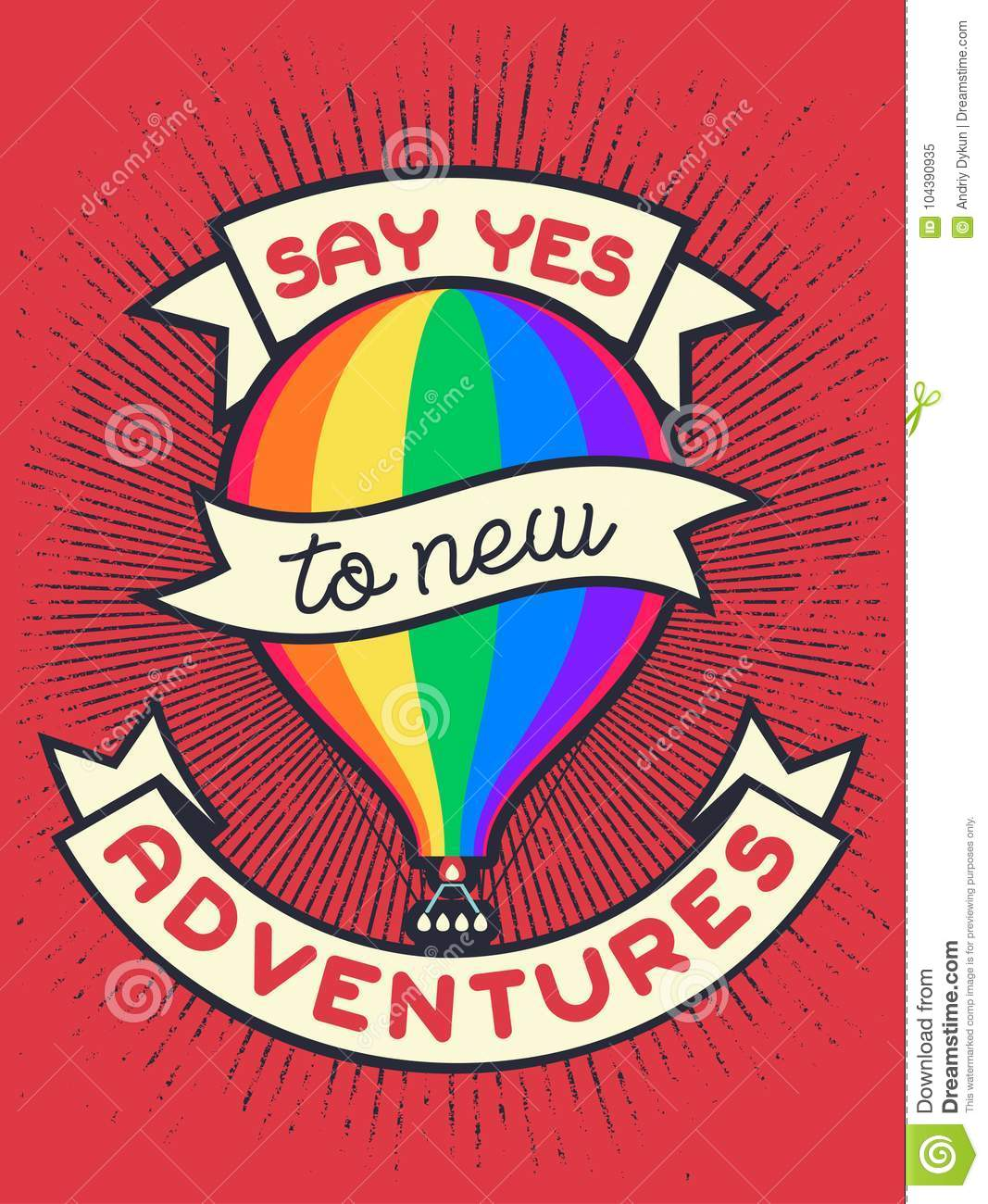 Vintage Lgbt Propaganda Lettering Quote Say Yes To New Adwentures
