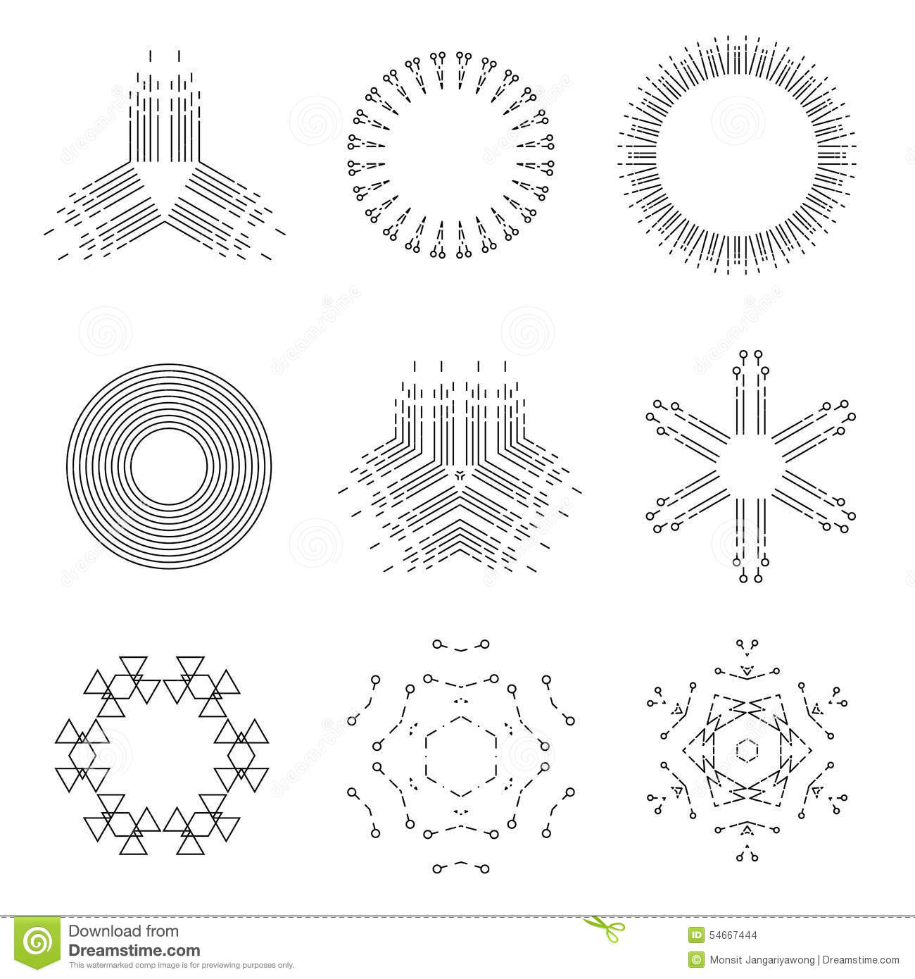 Vintage Light Rays Icons Set Vector Illustration Stock Vector ... for Vector Light Rays Vintage  557ylc