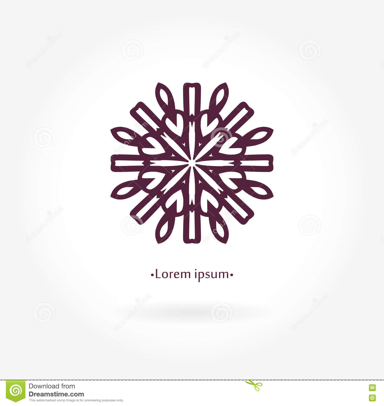 vintage linear logotype mandala logo icons business and