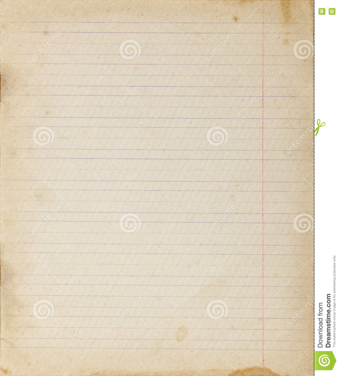 vintage lined paper background stock image - image of stained
