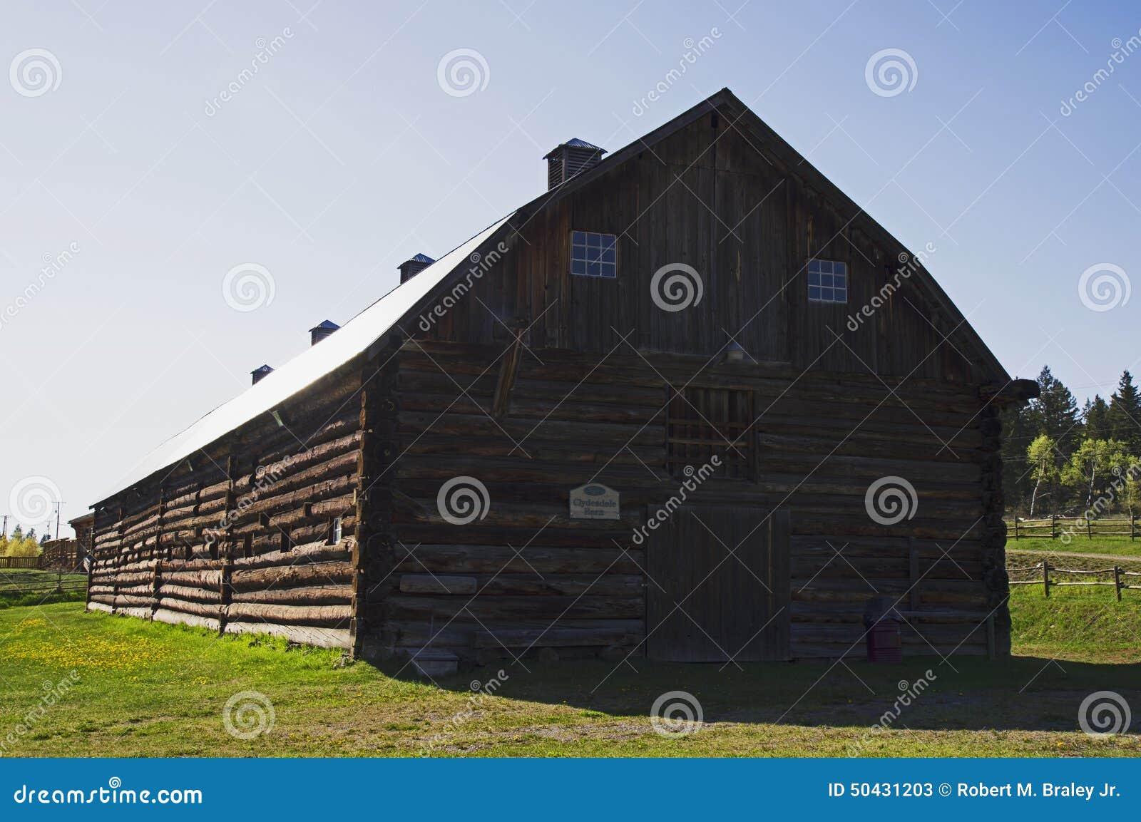 Vintage log barn