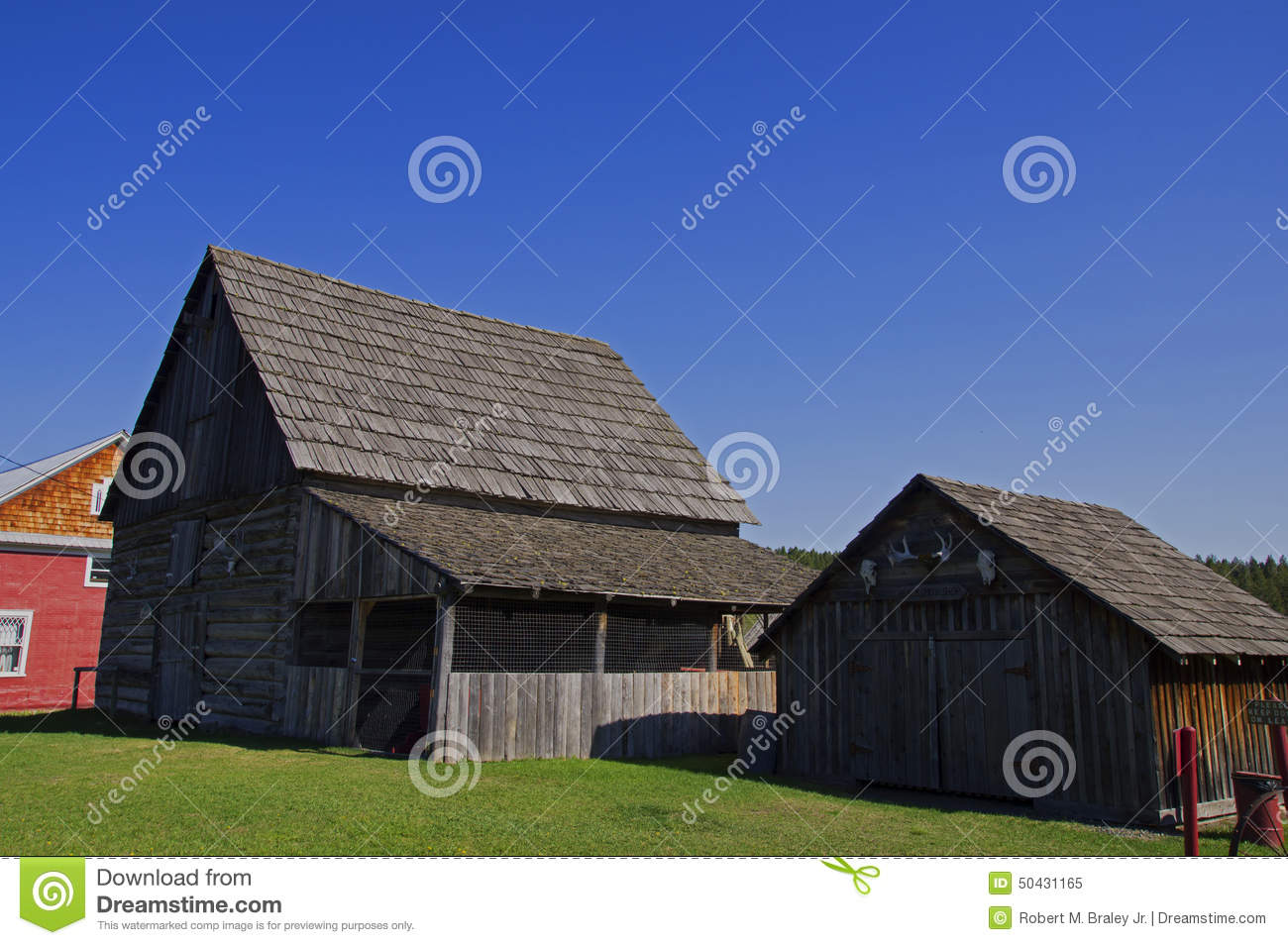 Vintage log barn shed house editorial image image 50431165 for Log barn homes